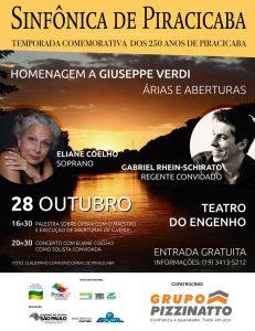 Sinfônica de Piracicaba se apresenta dia 28 de Outubro