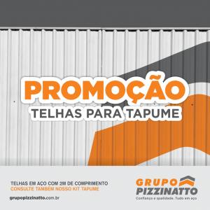 Promoção de Telhas para Tapume  (sob consulta)
