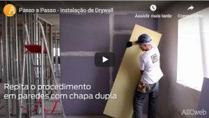 Como instalar paredes de drywall? Aprenda assistindo ao passo a passo