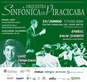 Orquestra Sinfônica de Piracicaba se apresenta no dia 29 de junho