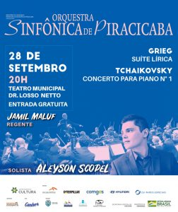 Orquestra Sinfônica de Piracicaba se apresenta no dia 28 de Setembro
