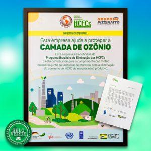 Grupo Pizzinatto ajuda a proteger a camada de ozônio